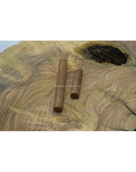İroko Ağacı Desenli Tesbihlik Yuvarlanmış Yedek İmame-Hitame Paket